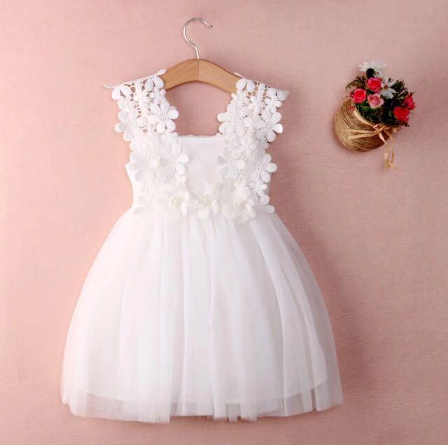 Vestido bautizo blanco encaje | Baby Lu | Ropa de bebe con diseños ...